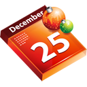 december, schedule, christmas, calendar, date, december 25 icon