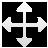 cursor, drag, arrow icon