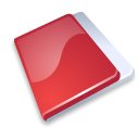 Folder close red icon