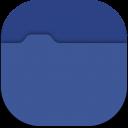 blue folder icon