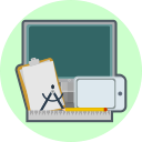 computer, ruler, technology, drawing pad, creative, tools, pen icon