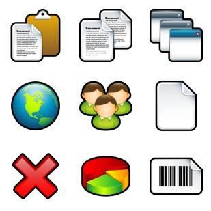 Sleek XP Basic icon sets preview
