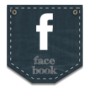 facebook, jeans, pocket icon