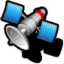 satellite, hot icon