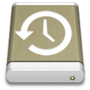 lightbrown, backup, external, drive icon