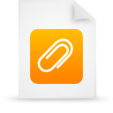orange, document, paper, file icon