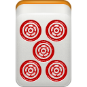 Dora, Mahjong, Pin, Red icon