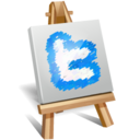 twitter painting icon