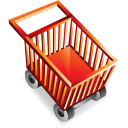 shopping, cart, shopping cart, blank, empty, commerce, buy icon