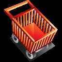 shopping, cart, shopping cart, blank, empty, commerce, buy icon