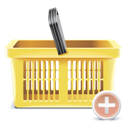 Add, Basket, Shopping, To icon