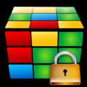 locked, lock, cube, security icon