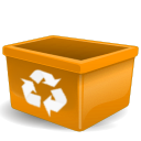 trash, recycle bin, empty icon