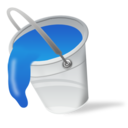 color, bucket, fill, blue, paint icon