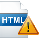 html page warning icon