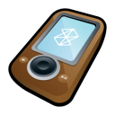 brown, ipod, microsoft, zune, mp3 player icon