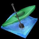 sprint, kayak icon