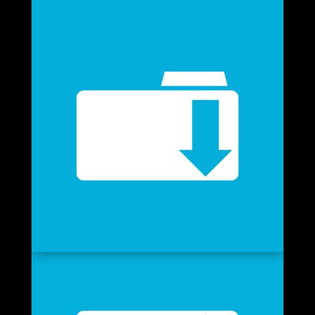 folder, downloads, mirror icon