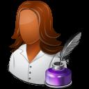 Occupations Writer Female Dark icon