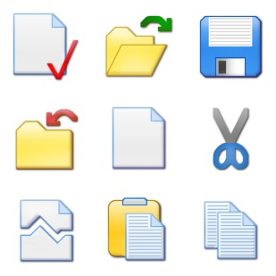 Toolbar icon sets preview