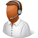 Occupations Technical Support Representative Male Dark icon