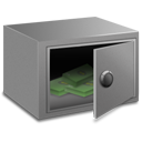 strong, currency, money, coin, box, cash icon
