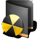 Burn Folder Black icon