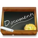 document, paper, file, dossier, ardoise icon