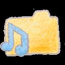 music, folder, yellow icon