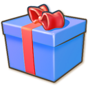 blue, giftbox icon