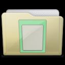 beige folder docs icon