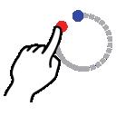 shape, circle, gestureworks, stroke icon