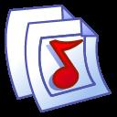 paper, file, audio, document icon