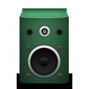 speaker, green icon