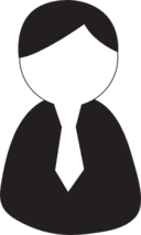 Man with a tie icon