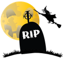 grave, scary, hauted, rip, halloween, witch icon