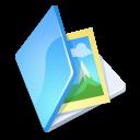 Blue, Folder, Image icon