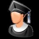 man, student, user, graduated icon