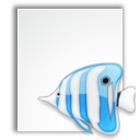 project, bluefish, mime icon