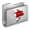 Folder, Metal, Torrents icon