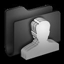 Black, Folder, Group icon