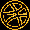 logo, dribbble, brand icon