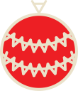xmas, decoration, christmas, ball icon