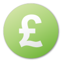 green, pound, currency icon