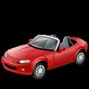automobile, vehicle, transportation, ara, car, mazda, cabrioletred, araba, transport, red icon
