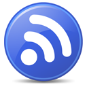 rss, blue, feed, subscribe icon