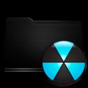 black, folder, burn icon
