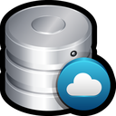 database, server, remote, backup, storage, cloud icon