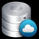 database, server, remote, backup, storage, cloud icon