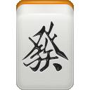 dragon, mahjong, green icon